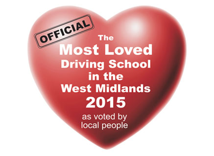 Most Loved Driving School in the West Midlands 2015