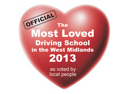 Most Loved Driving School in the West Midlands 2013