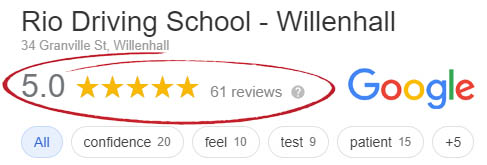 Google reviews for Willenhall driving lessons