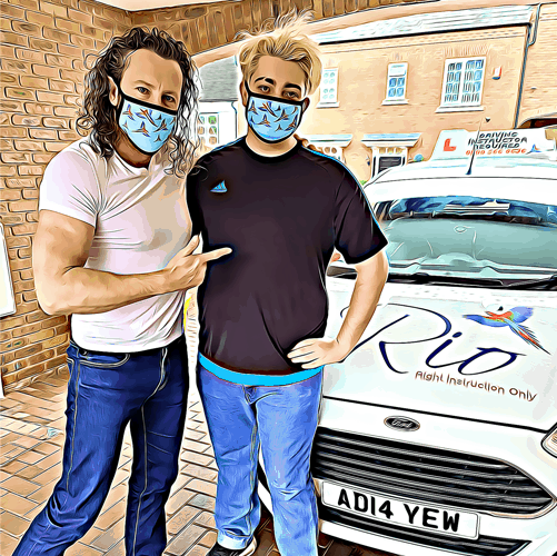 You can request a Rio branded face mask from your instructor!