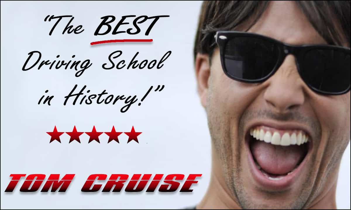 Rio Driving School of Cannock and Walsall is the best driving school in history, says Tom Cruise